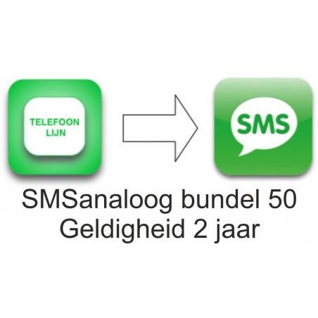 SMSanaloog prepaid bundel 50 geldigheid 2 jaar