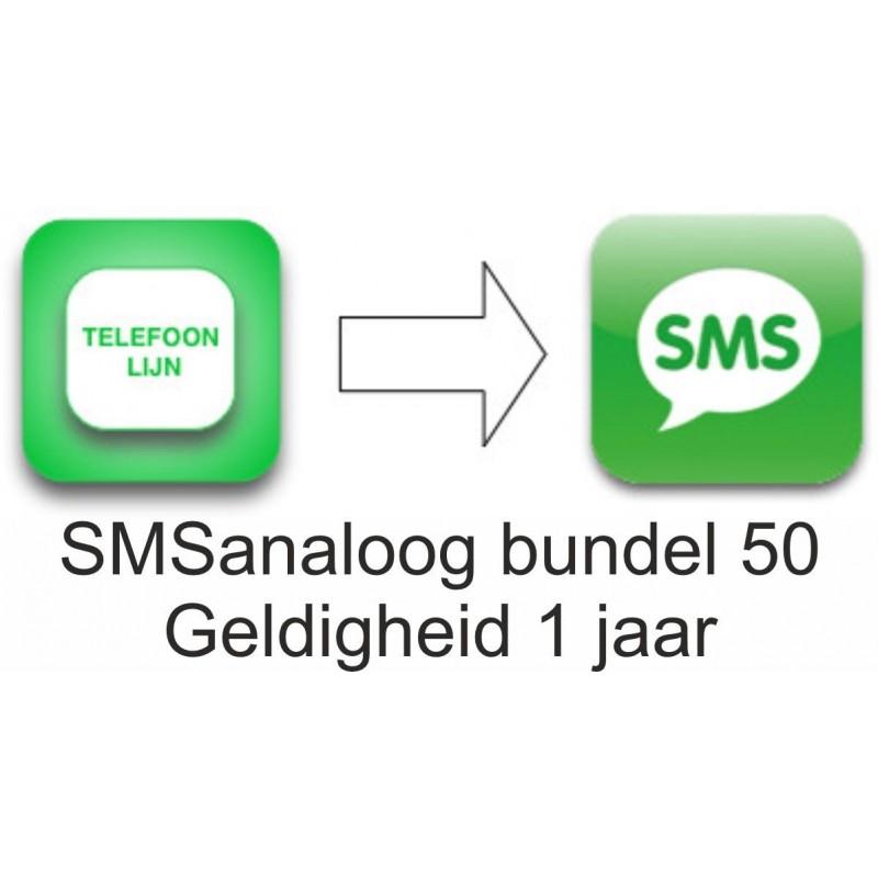 SMSanaloog prepaid bundel 50 geldigheid 1 jaar