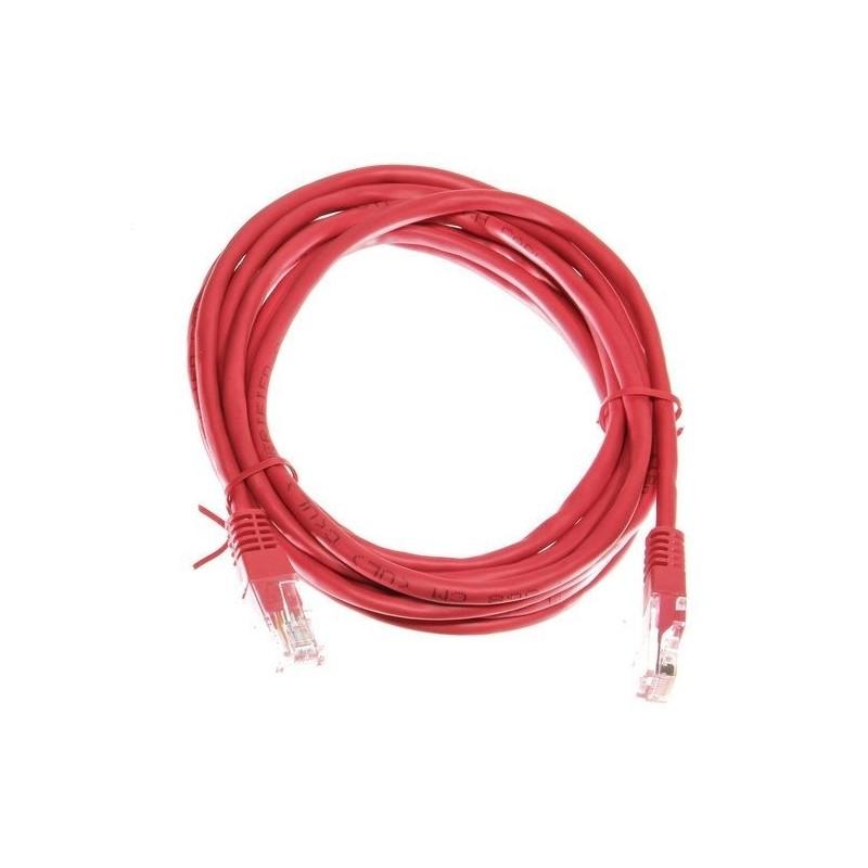 netwerkkabel CAT5e 3m rood