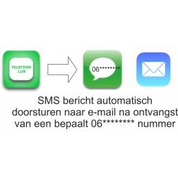 SMSanaloog SMS bericht doorsturen na ontvangst naar e-mail