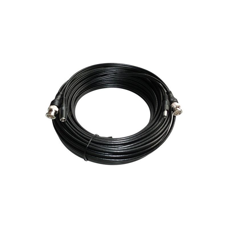 Combicoax kabel RG59 met voeding 40 meter