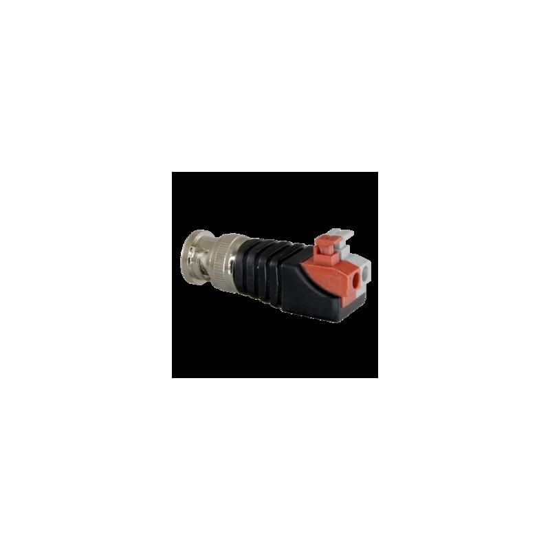 BNC male connector met 2 indruk connectors