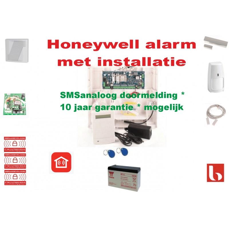 Woonhuisbeveiliging alarm met installatie voor woonhuis doormelding via SMSanaloog *