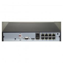 Achterkant NVR 8POE IP Recorder Hikvision HWN-4108MH-8P