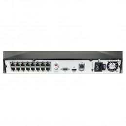 Achterkant NVR 16POE IP Recorder Hikvision HWN-4216MH-16P