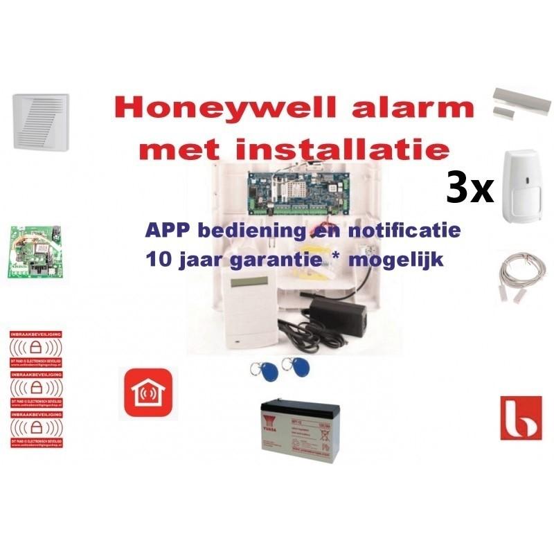 Alarm met installatie voor woonhuis uitgebreid pakket, diervriendelijk en APP