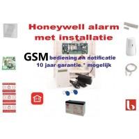 Alarm met installatie van Honeywell met GSM doormelding en bediening